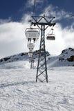 Alpi dello svizzero della cabina di funivia Fotografie Stock Libere da Diritti