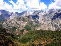 Alpi di Apuan Immagine Stock