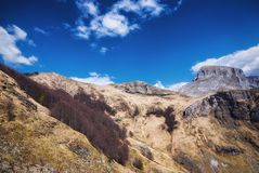 Alpi di Apuan, dal nero di fato Fotografia Stock Libera da Diritti