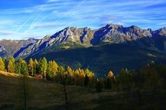 Alpi di autunno della montagna Immagini Stock