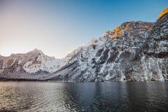 Alpi di Baviera di koenigssee di inverno Immagini Stock