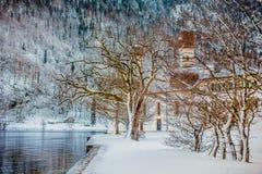 Alpi di Baviera di koenigssee di inverno Fotografia Stock Libera da Diritti