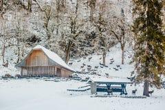 Alpi di Baviera di koenigssee di inverno Fotografie Stock