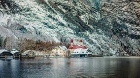 Alpi di Baviera di koenigssee di inverno Fotografia Stock