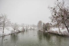 Alpi di Baviera di tegernsee di inverno Immagini Stock Libere da Diritti