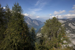 Alpi di Berchtesgaden con Königssee Fotografie Stock