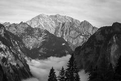 Alpi di Berchtesgaden con Watzmann Fotografia Stock Libera da Diritti