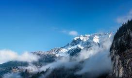 Alpi di Bernese. Lauterbrunnen. La Svizzera. Immagini Stock Libere da Diritti