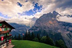 Alpi di Bernese, Svizzera Fotografia Stock Libera da Diritti