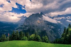 Alpi di Bernese, Svizzera Immagine Stock Libera da Diritti