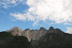 Alpi di Carnic vicino a Paularo Fotografie Stock Libere da Diritti