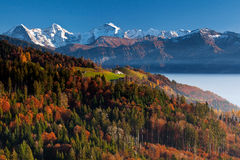 Alpi di colori Fotografie Stock Libere da Diritti