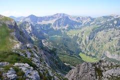 Alpi di Dinaric nel Montenegro Fotografie Stock