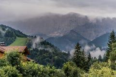 Alpi di estate, Garmisch-Partenkirchen, Germania Fotografie Stock Libere da Diritti