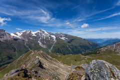 Alpi di estate - paesaggio della montagna Fotografie Stock