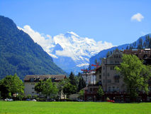 Alpi di Europa, montagna di estate Fotografie Stock