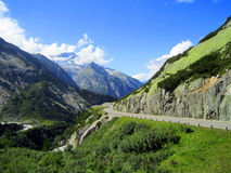 Alpi di Europa, montagna di estate Immagine Stock Libera da Diritti