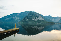 Alpi di Hallstat Austria Fotografia Stock Libera da Diritti