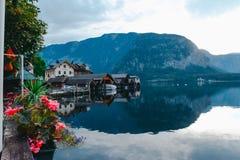 Alpi di Hallstat Austria Fotografia Stock