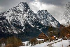 Alpi di inverno fotografie stock