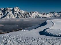 Alpi di inverno Immagini Stock Libere da Diritti