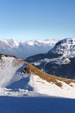 Alpi di inverno Fotografie Stock Libere da Diritti