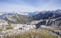 Alpi di Julian da Krn Immagine Stock