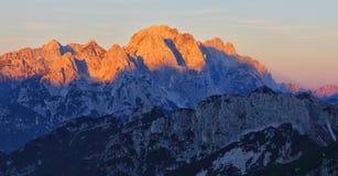 Alpi di Julian in Italia Fotografie Stock