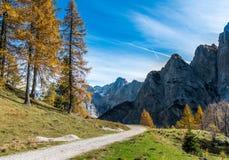 Alpi di Julian nella fine dell'estate Immagini Stock