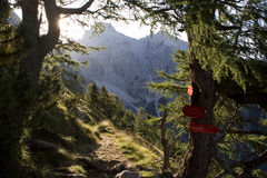Alpi di Julian - paesaggio in lampadina Fotografia Stock Libera da Diritti