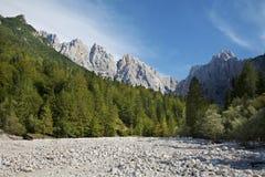 Alpi di Julian - picco dello spica di Gamsova Fotografia Stock Libera da Diritti