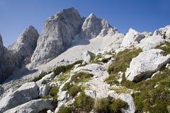 Alpi di Julian - picco di Jalovec Immagine Stock