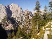 Alpi di Julian - picco di Prisojnik Fotografia Stock