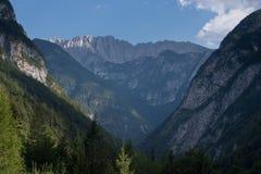 Alpi di Julian in Slovenia Immagini Stock