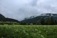 Alpi di Julian in Slovenia Fotografie Stock Libere da Diritti