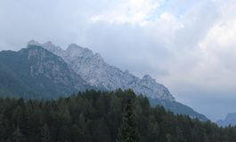 Alpi di Julian in Slovenia Immagine Stock