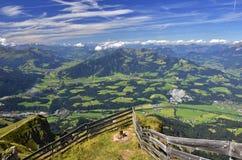 Alpi di Kitzbuhel nel Tirolo, Austria Immagini Stock Libere da Diritti