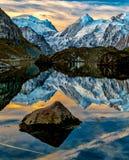 Alpi di Lac de Louvie Swiss Fotografia Stock Libera da Diritti