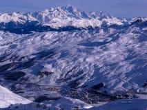 Alpi di Les Vallees Francia, Fotografie Stock