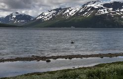 Alpi di Lyngen, Norvegia Fotografia Stock Libera da Diritti