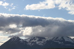 Alpi di Lyngen, Norvegia Fotografie Stock Libere da Diritti