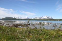 Alpi di Lyngen, Norvegia Immagini Stock Libere da Diritti