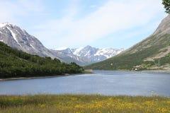 Alpi di Lyngen, Norvegia Immagine Stock