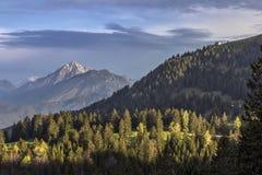 Alpi di mattina Fotografia Stock Libera da Diritti