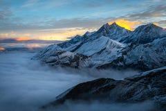 Alpi di mattina Fotografia Stock