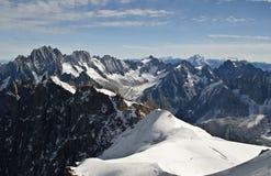 Alpi di Mont Blanc Fotografia Stock