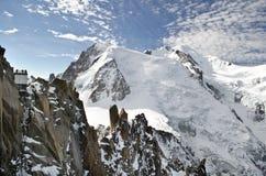 Alpi di Mont Blanc Fotografie Stock