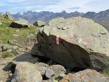 Alpi di Oetztal Fotografie Stock
