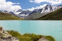 Alpi di Oetztal e di Rifflsee in Austria Fotografia Stock Libera da Diritti