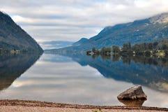 Alpi di paesaggio del lago Immagine Stock